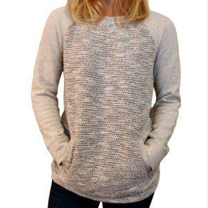 LOU & GREY Jersey Knit Textured Sweatshirt Pockets